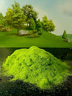 Имитация травы, флок для диорам, миниатюр,  3-5 мм, 5 гр