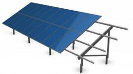 """Крепление солнечных панелей на грунт """"Актив-β 24F22-Р"""" (для 22 фотомодулей)"""