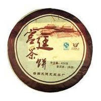 Чай Шу пуэр Гун Тин (Императорский пуэр) сбор  2010г  378-400 гр. блин