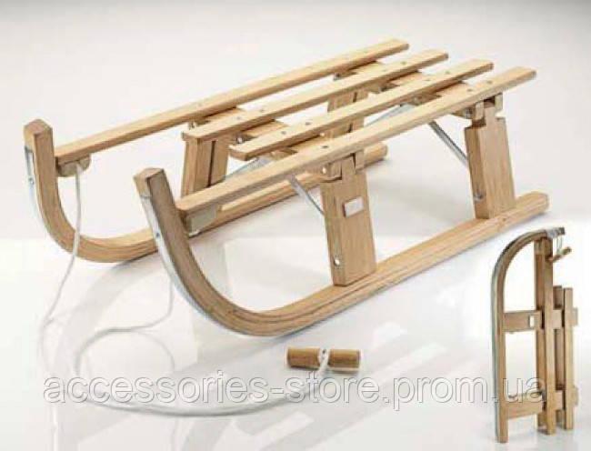 Складные деревяные санки Volkswagen