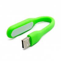 Гибкий USB фонарик светильник, 1.2W зеленый