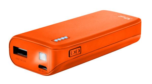 Портативний зарядний пристрій Trust Primo 4400 neon orange (зовнішня зарядка для телефону)