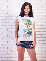 Молодежная футболка с морским принтом