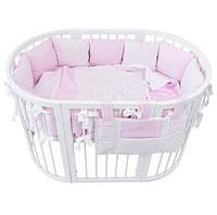 """Постельный комплект для новорожденных """"Marshmallow zigzag"""""""