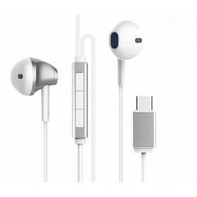Наушники Baseus B51 Digital Type-C Wire Control Earphone Silver/White