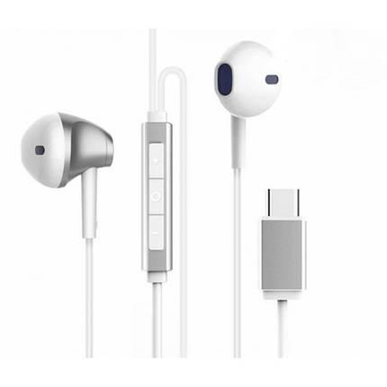 Наушники Baseus B51 Digital Type-C Wire Control Earphone Silver/White, фото 2