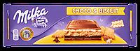 Шоколад молочный Milka Choco & Biscuit (Милка Бисквит с шоколадом) 300г (Швейцария)