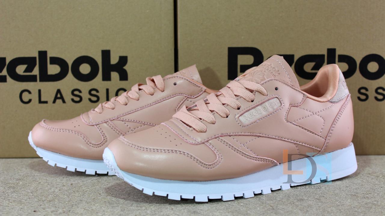... фото · Оригинальные Reebok Classic Leather NT Rose Cloud White женские  кроссовки Рибок розовые кожаные, ... ba9c27ad8b5