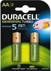 Акумулятор Duracell AA 2500mAh Turbo 2шт. блістер HR6 (81546830)
