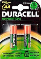 Аккумулятор Duracell AA 1300mAh 2шт. блистер HR6  (81367175)