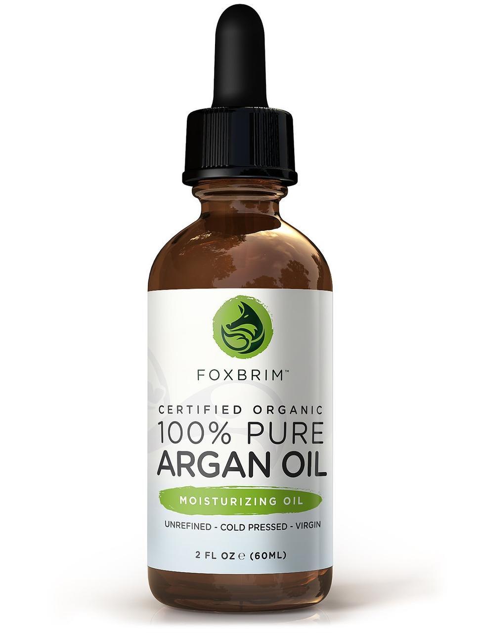 Органическое аргановое масло для волос, кожи и ногтей Foxbrim