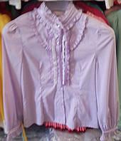 Подростковая розовая блуза Deloras с декоративным воротом длинный рукав р. 120-160