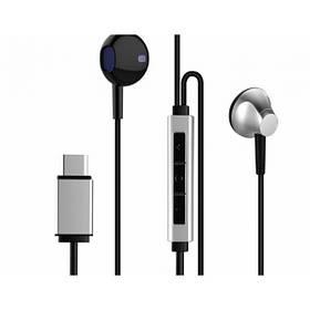 Наушники Baseus B51 Digital Type-C Wire Control Earphone Silver/Black