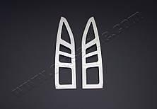 Хром накладки на окантовки на стопы Citroen Berlingo II (2008-2012) (нерж.) 2 шт.