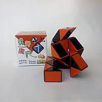 Змейка Рубика красно-черная Shengshou, пружинный механизм