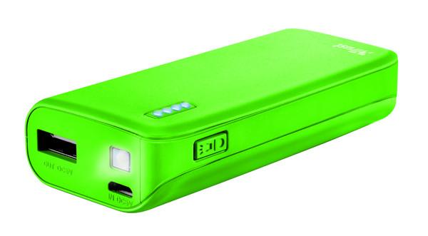 Портативное зарядное устройство Trust Primo 4400 neon green (внешняя зарядка для телефона)