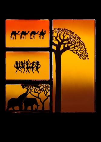 """Керамический дизайн-обогреватель UDEN-S """"Африка"""" (квадриптих), фото 2"""