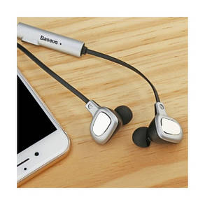 Наушники Baseus B15 Seal Bluetooth Earphone Silver/Black, фото 2