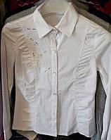 Подростковая блуза белая  Deloras с вышивкой р. 120-160