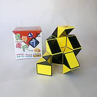 Змейка Рубика черно-желтая Shengshou