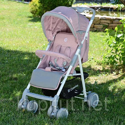 Детская коляска Nota M 3420-8 ( прогулочная, книжка, розовая)