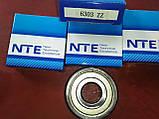 Радиально-упорный подшипник 6303 ZZ, NTE(Словакия), фото 4