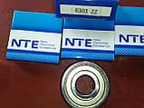 Радиально-упорный подшипник 6303 ZZ, NTE(Словакия), фото 5