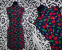 """Милое летнее женское платье """"креп-шифон"""" 42 размер норма"""