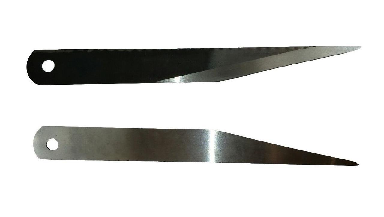 Нож брусовочный Р6M5 для спускания краёв кожи (шерфования)