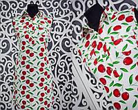 """Милое летнее женское платье """"креп-шифон"""" Белый 42 размер норма"""