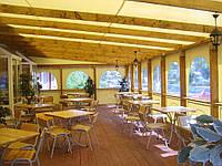Тентовый навес ПВХ (Германия) 650 D для летнего ресторана, кафе, павильоны