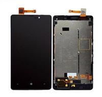 Дисплей (LCD) Nokia 820 Lumia с сенсором черный + рамка