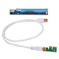 Райзер pcie USB 3.0 riser для видеокарты майнинг райзер pci - e 16x угол sata кабель SATA