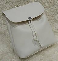 Женский модный и стильный рюкзак качественная эко-кожа белый