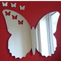 Акриловое зеркало «Бабочка», размер 500х580, фото 1