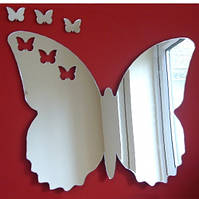 Акриловое зеркало «Бабочка», размер 500х580