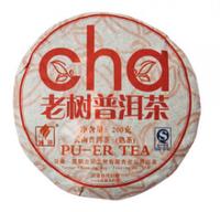 """Чай китайский элитный шу пуэр """"Лао Шу Ча""""  сбор 2008 г. 185-200 гр (блин)"""