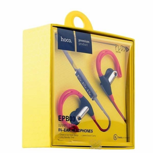 Наушники HOCO Bluetooth Earphone EPB03 Red