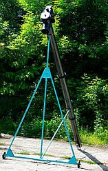Шнековый транспортер (винтовой конвейер) в трубе 150 мм, длиной 4 м, 10 тчас, двигатель 2,2 кВт.