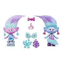 Фигурки Hasbro Trolls Близнецы Satin и Chenille 22,5 см (B6563)