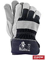 Защитные перчатки усиленные яловой кожей (перчатки кожаные рабочие) RBGLADIATOR GJS