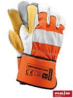 Перчатки защитные, усиленные яловой кожей, светлых цветов (перчатки кожаные рабочие) RBPOWERSTONE PJSH