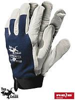 Перчатки защитные, изготовленные из высококачественной козьей кожи  (кожаные рабочие REIS) RLTOPER-VELCRO GW