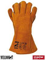 Кожаные перчатки для сварочных работ с кевларовой нитью REIS (RAW-POL) Польша WELDOGER Y