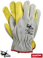 Перчатка кожаные рабочие REIS (RAW-POL) Польша RLCS++ JSY
