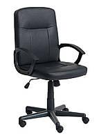 Кресло компьютерное на колесиках , офисное черное с ручками