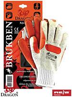 Перчатки защитные проклеенные, с резинкой BRUKBEN WP