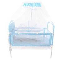 Акция! Детская кроватка Tilly 9352 с рождения до 6 лет. Голубая