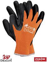 Перчатки защитные из флуоресцентного трикотажа с покрытием RDR-NEO PB