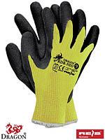 Перчатки защитные из флуоресцентного трикотажа с покрытием RDR-NEO YB